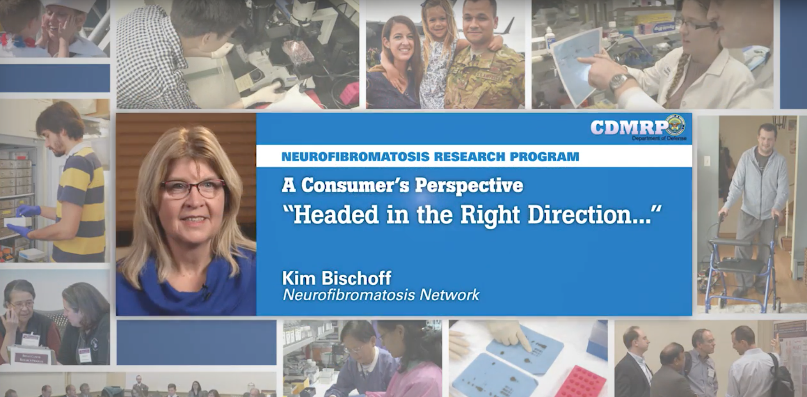 YouTube Video of Kim Bischoff from the Nuerofibromatosis Network